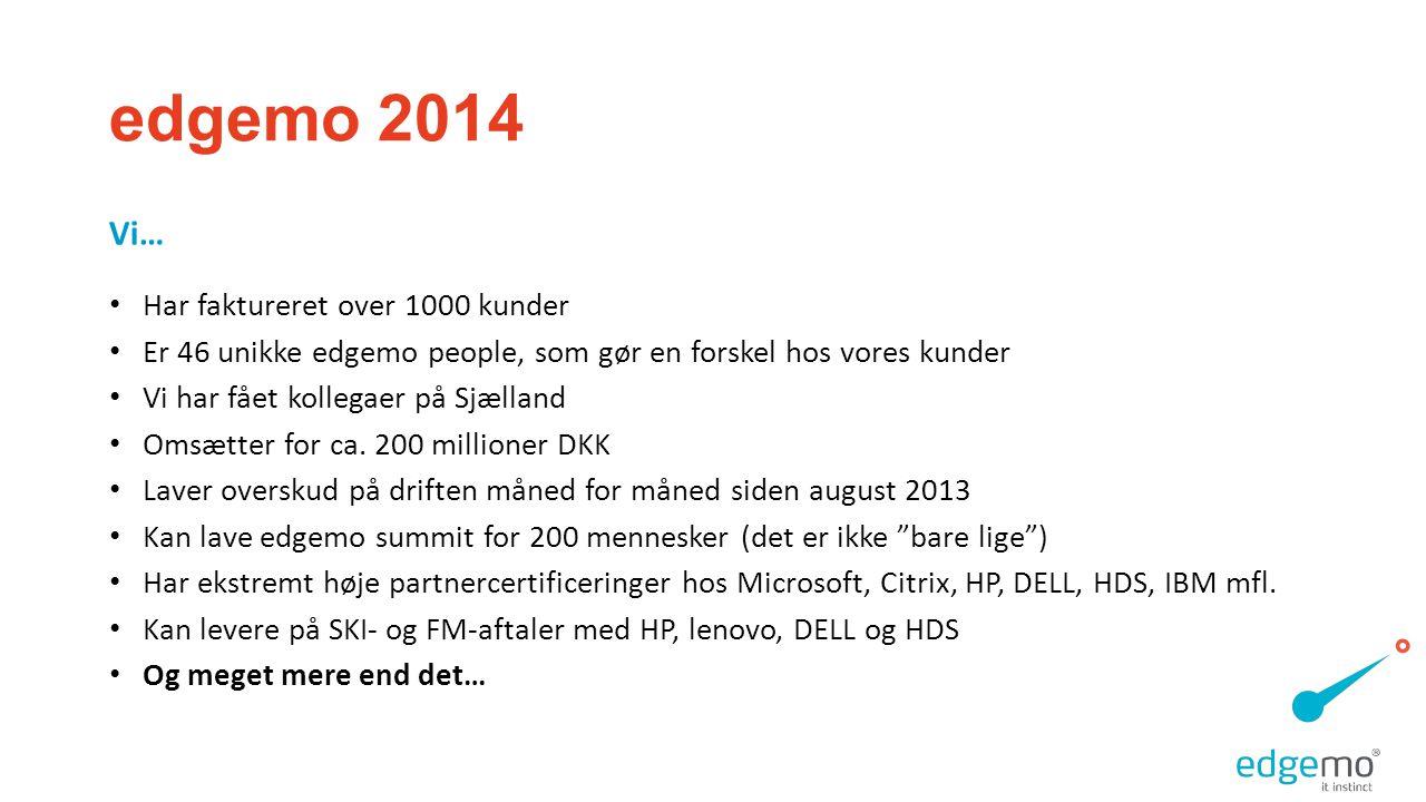 edgemo 2014 Vi… Har faktureret over 1000 kunder