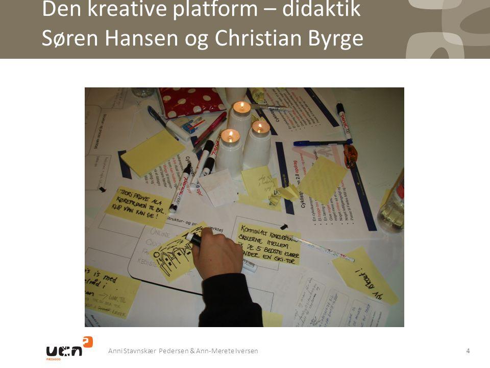 Den kreative platform – didaktik Søren Hansen og Christian Byrge
