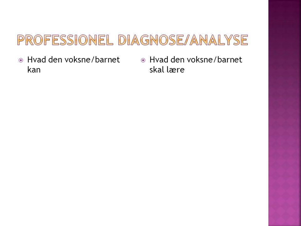 Professionel diagnose/analyse