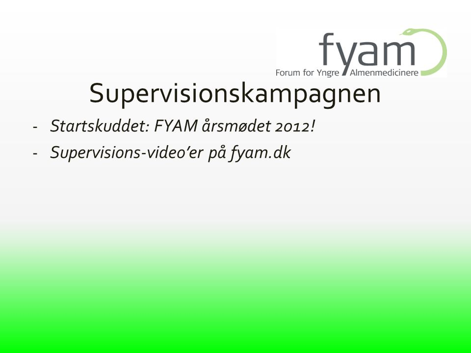 Supervisionskampagnen