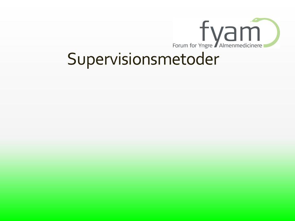 Supervisionsmetoder