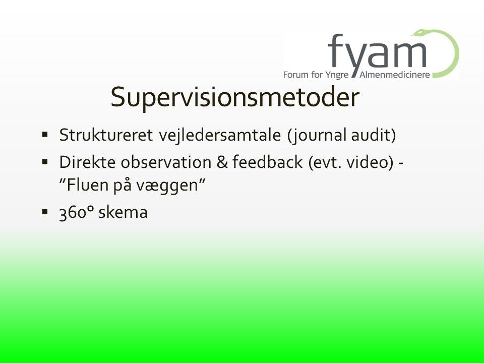 Supervisionsmetoder Struktureret vejledersamtale (journal audit)
