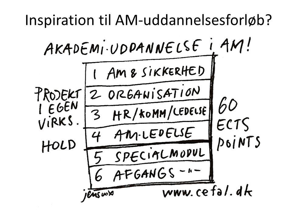 Inspiration til AM-uddannelsesforløb