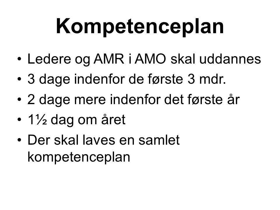 Kompetenceplan Ledere og AMR i AMO skal uddannes