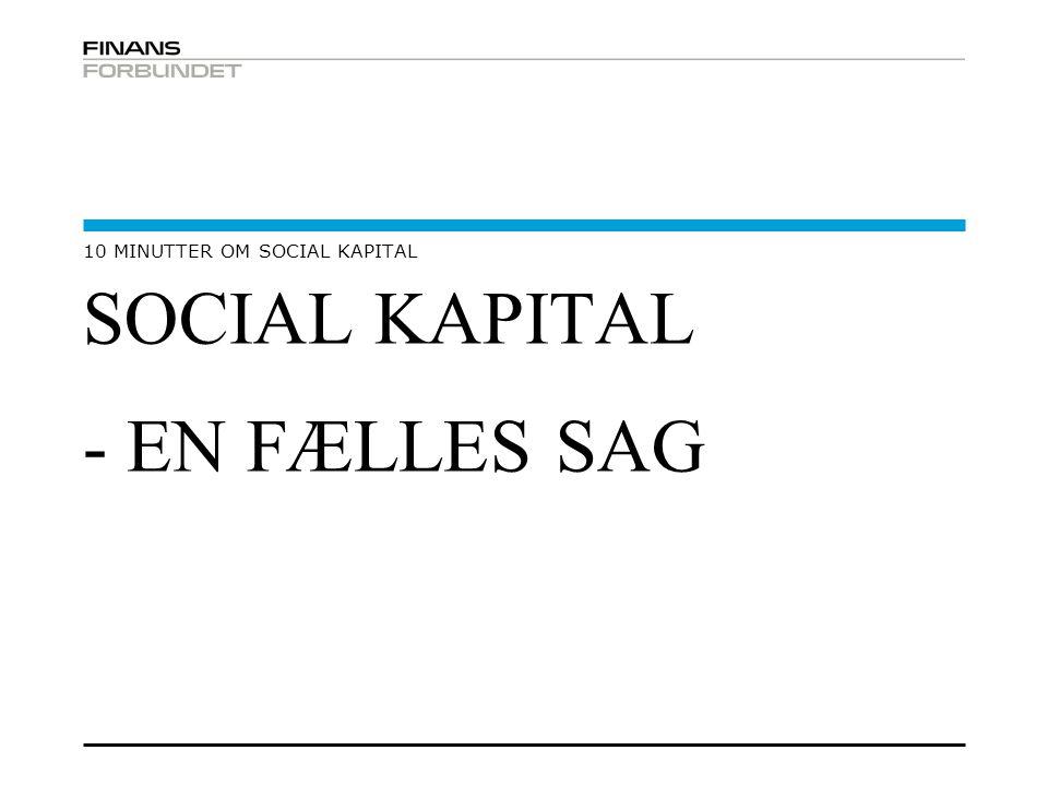 SOCIAL KAPITAL - EN FÆLLES SAG