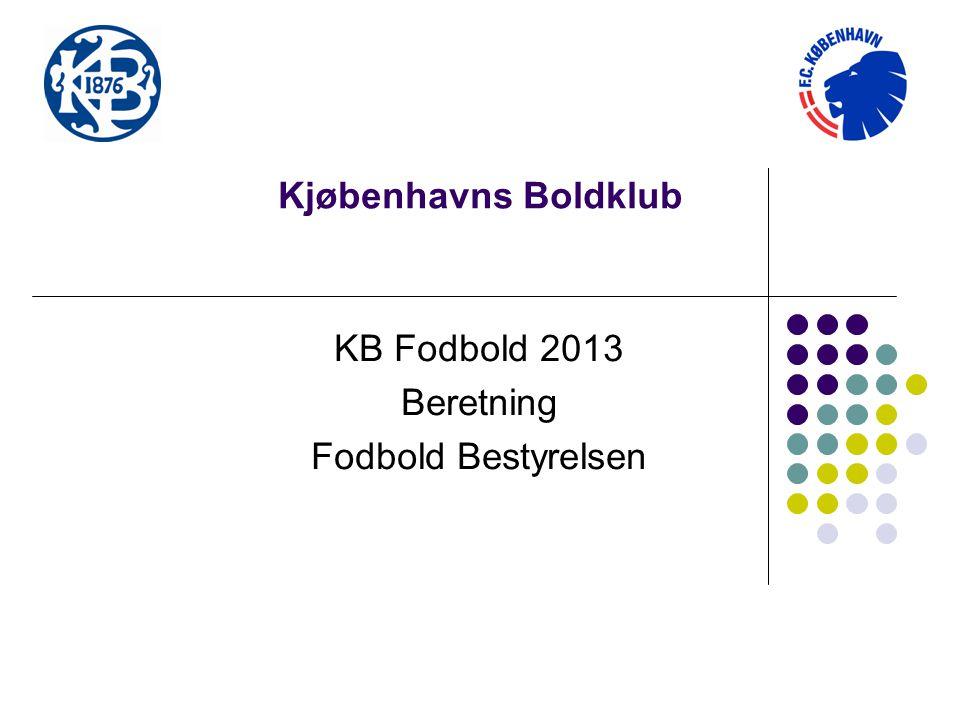 KB Fodbold 2013 Beretning Fodbold Bestyrelsen
