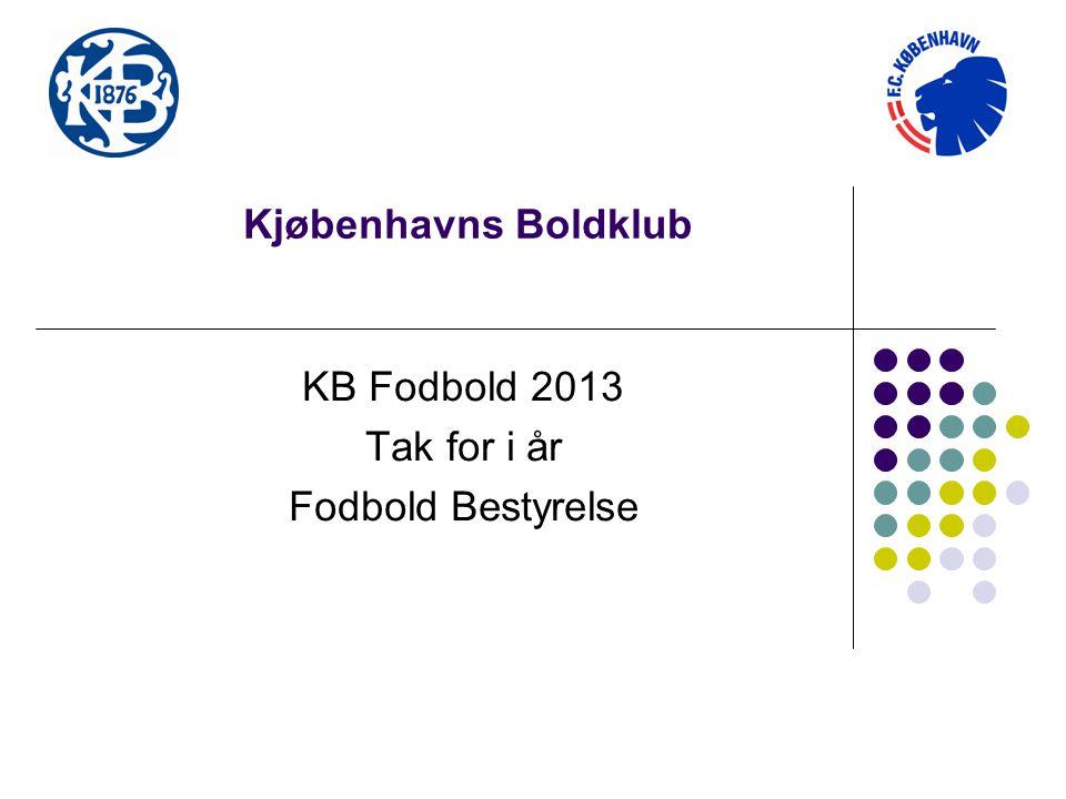 KB Fodbold 2013 Tak for i år Fodbold Bestyrelse