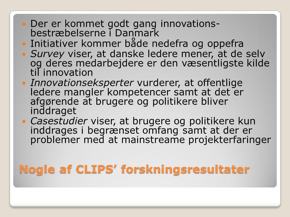 Nogle af CLIPS' forskningsresultater