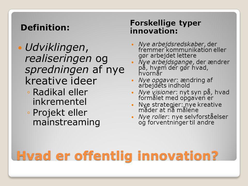 Hvad er offentlig innovation