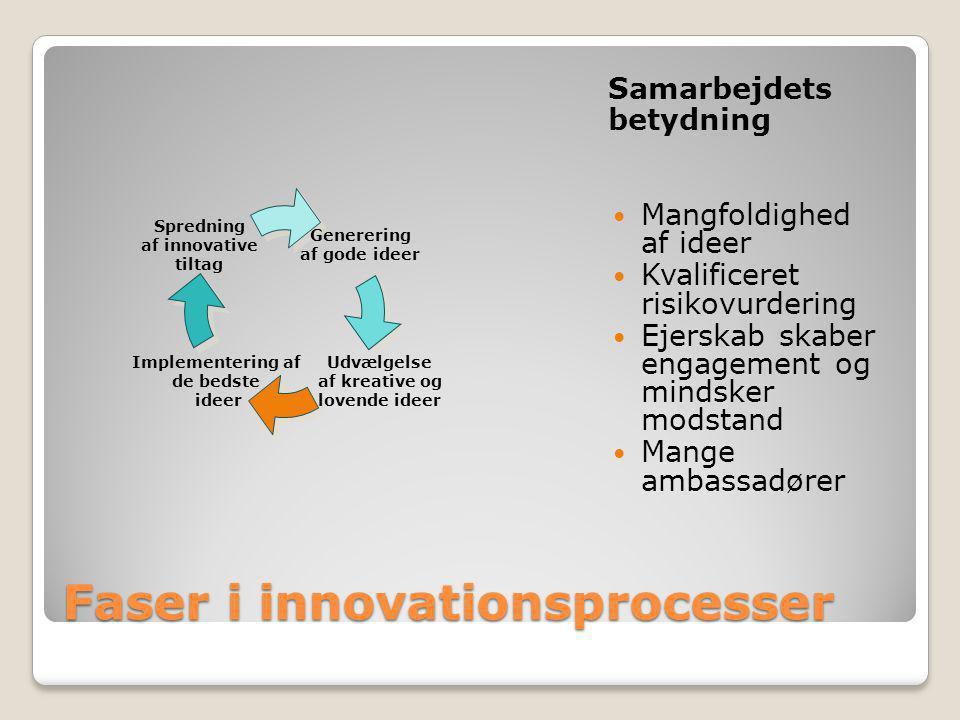 Faser i innovationsprocesser