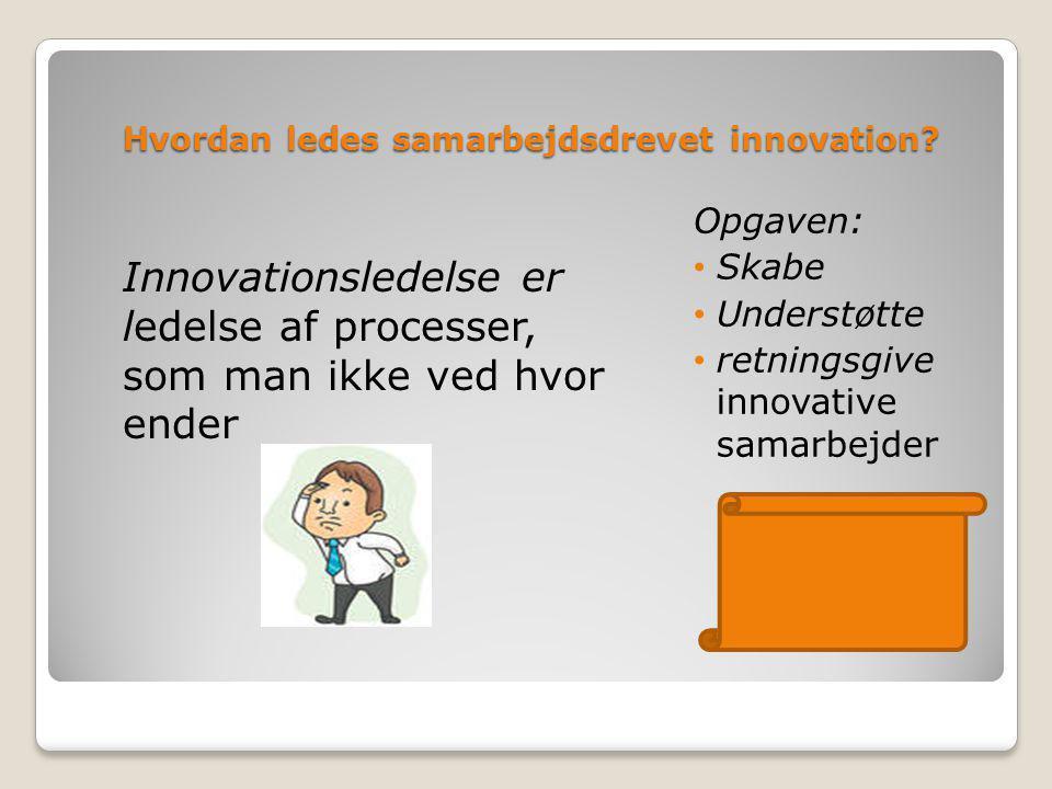 Hvordan ledes samarbejdsdrevet innovation