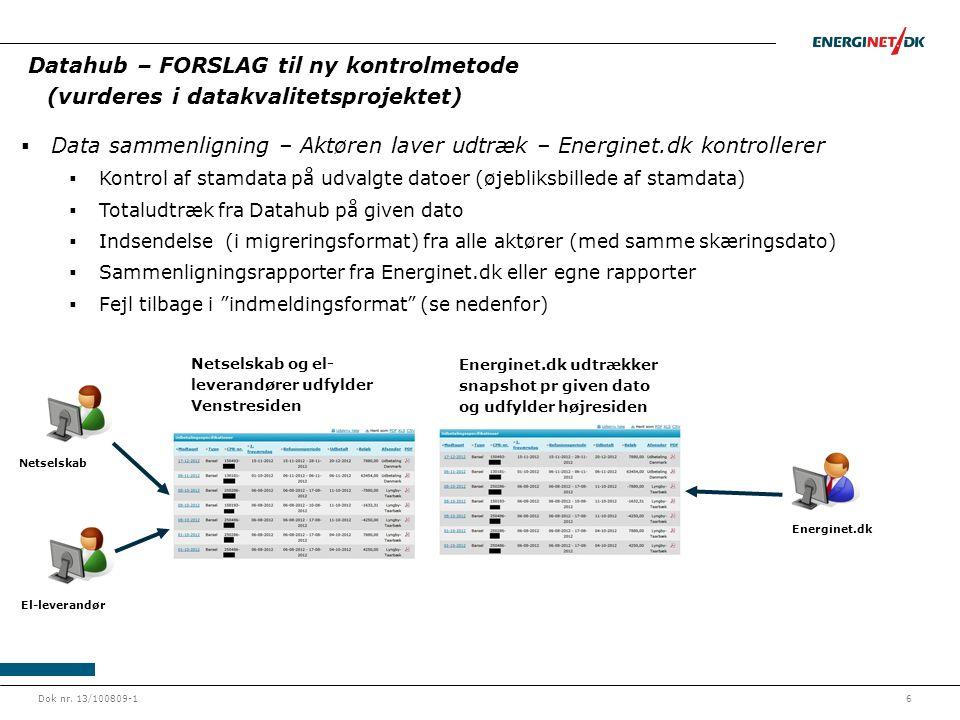 Data sammenligning – Aktøren laver udtræk – Energinet.dk kontrollerer