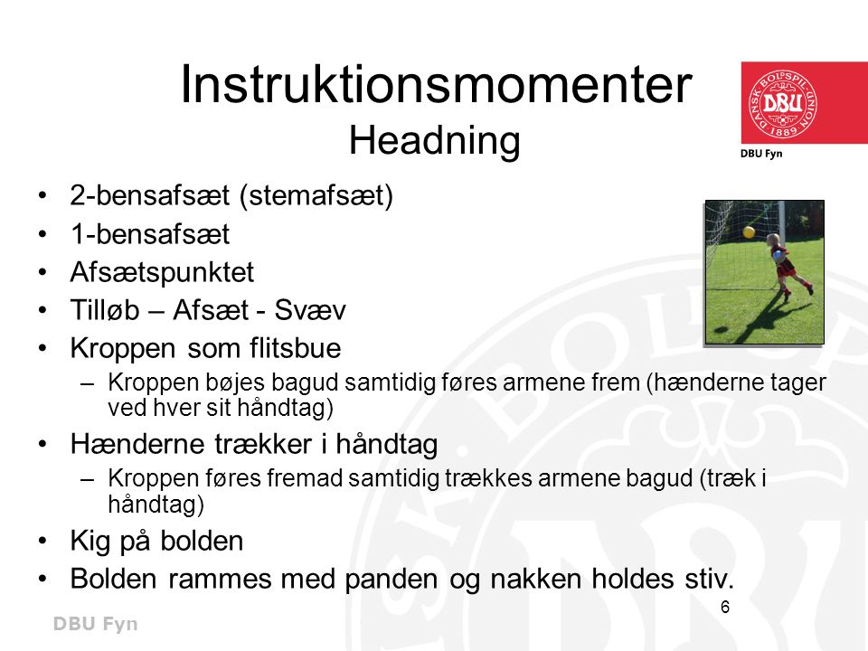 Instruktionsmomenter Headning