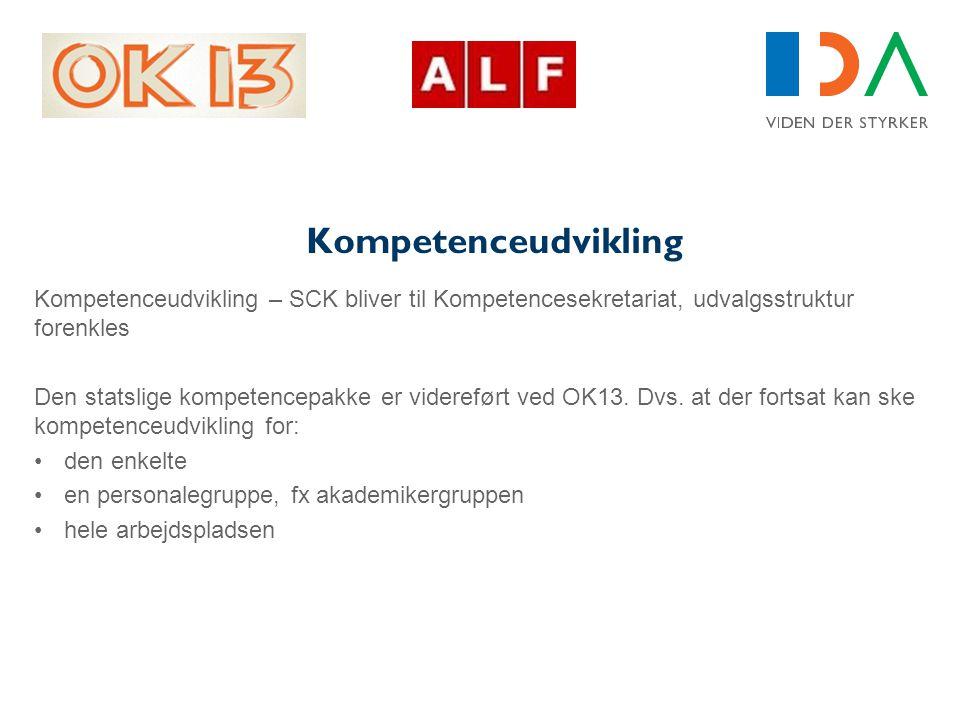 Kompetenceudvikling Kompetenceudvikling – SCK bliver til Kompetencesekretariat, udvalgsstruktur forenkles.