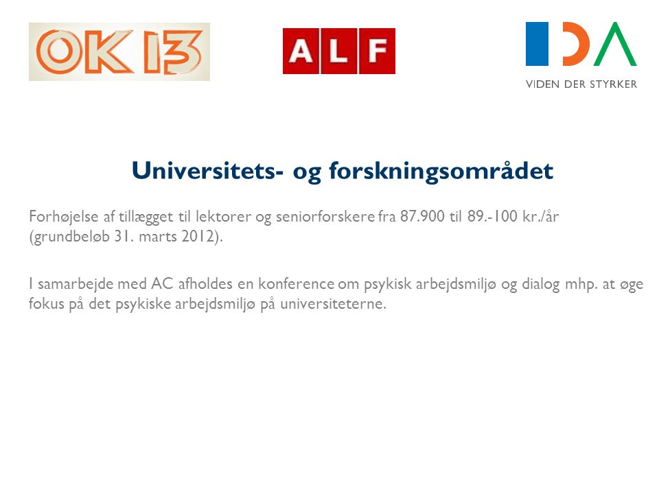 Universitets- og forskningsområdet