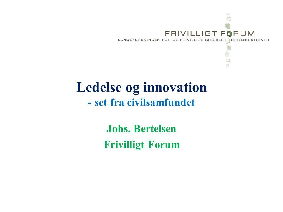 Ledelse og innovation - set fra civilsamfundet