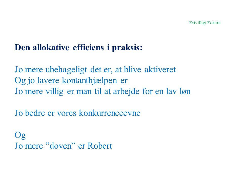 Den allokative efficiens i praksis: