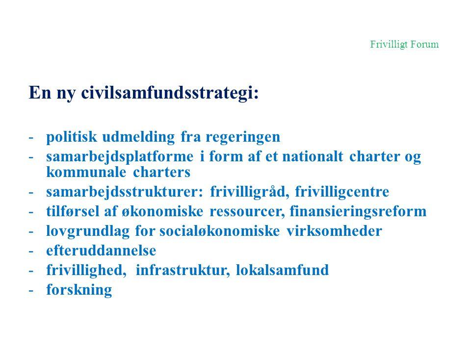 En ny civilsamfundsstrategi: