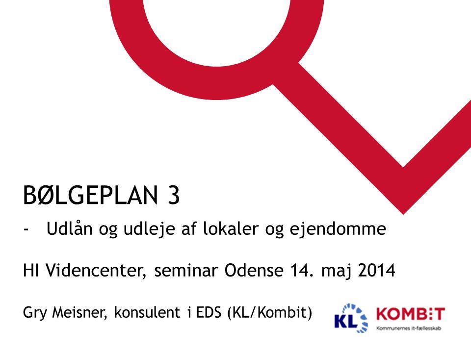 Bølgeplan 3 Udlån og udleje af lokaler og ejendomme