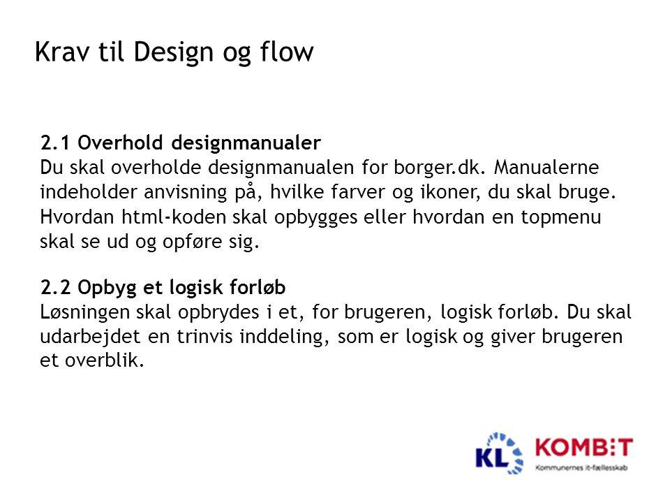 Krav til Design og flow