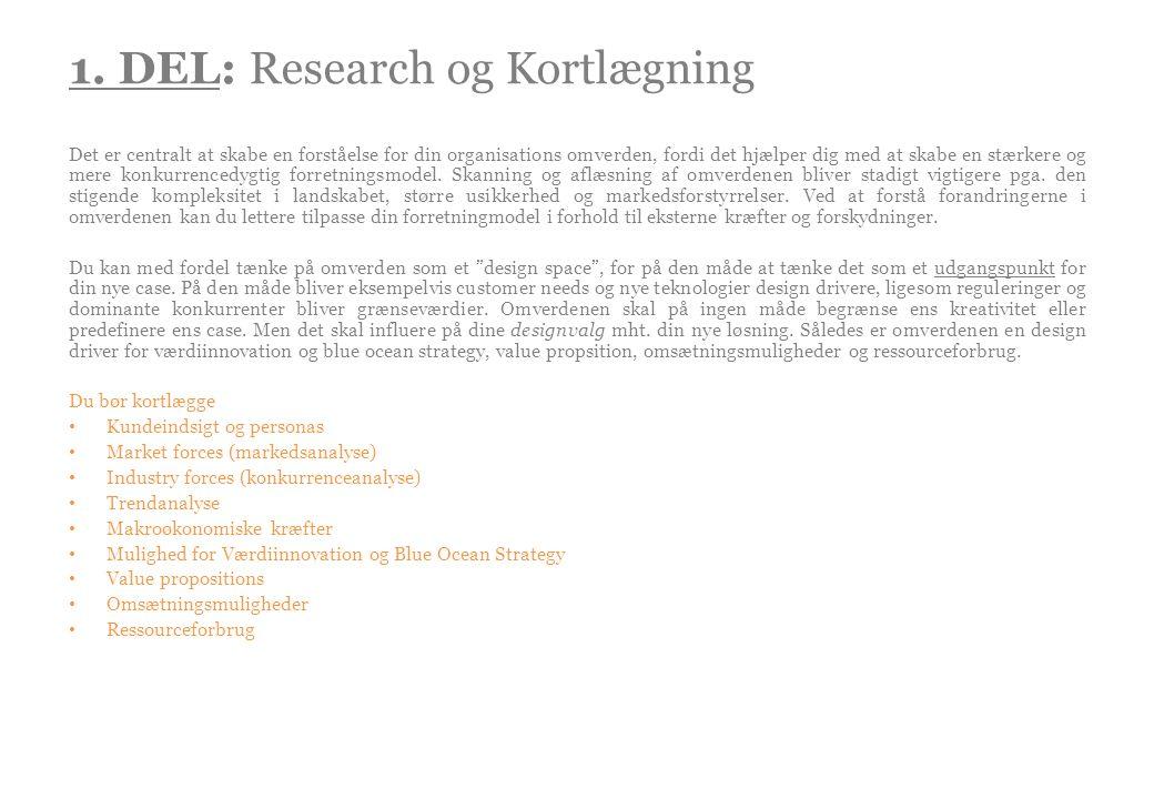 1. DEL: Research og Kortlægning