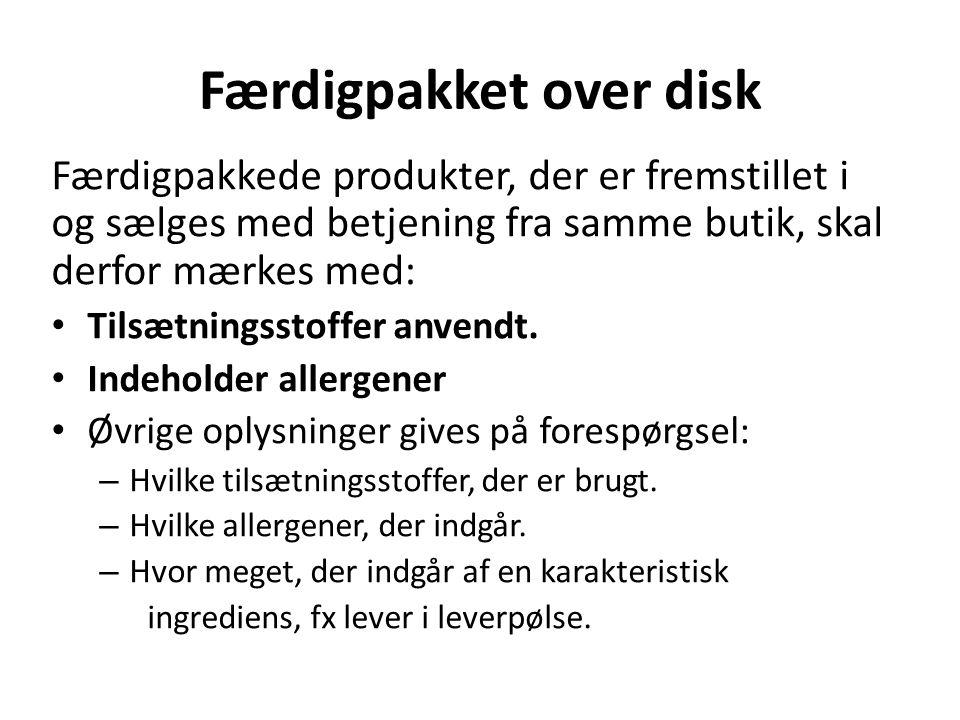 Færdigpakket over disk