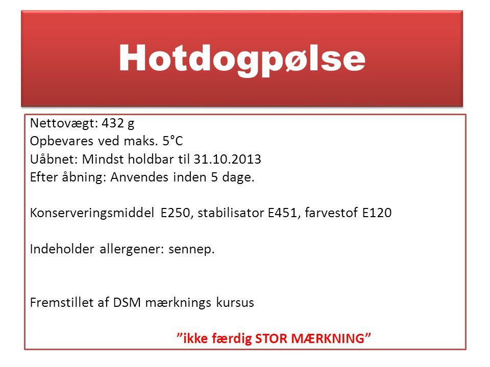 Hotdogpølse
