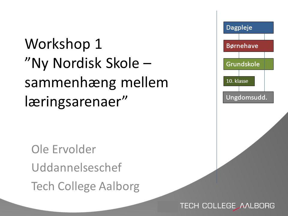 Workshop 1 Ny Nordisk Skole – sammenhæng mellem læringsarenaer