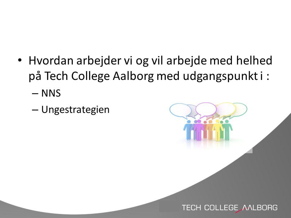 Hvordan arbejder vi og vil arbejde med helhed på Tech College Aalborg med udgangspunkt i :