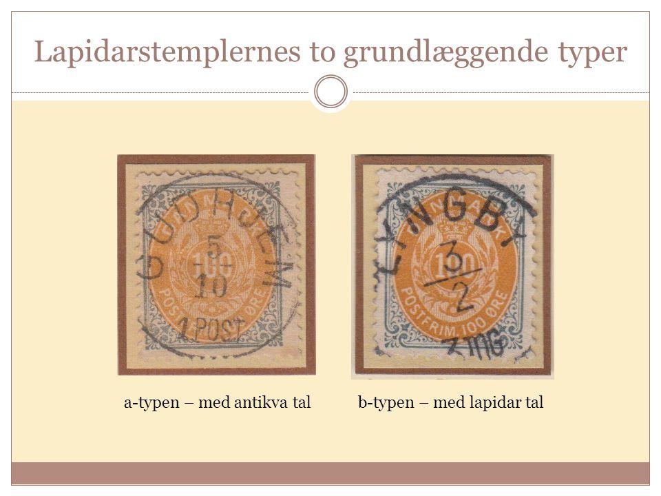 Lapidarstemplernes to grundlæggende typer