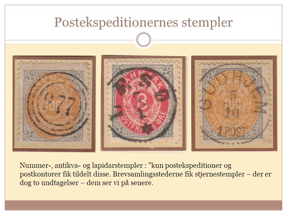 Postekspeditionernes stempler