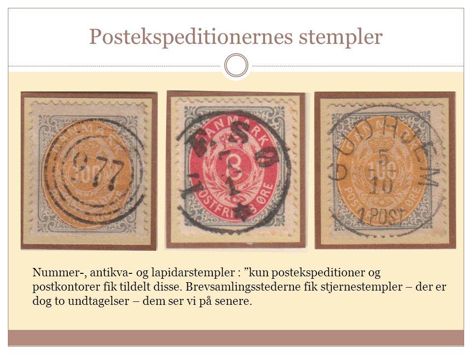 Postekspeditionernes stempler