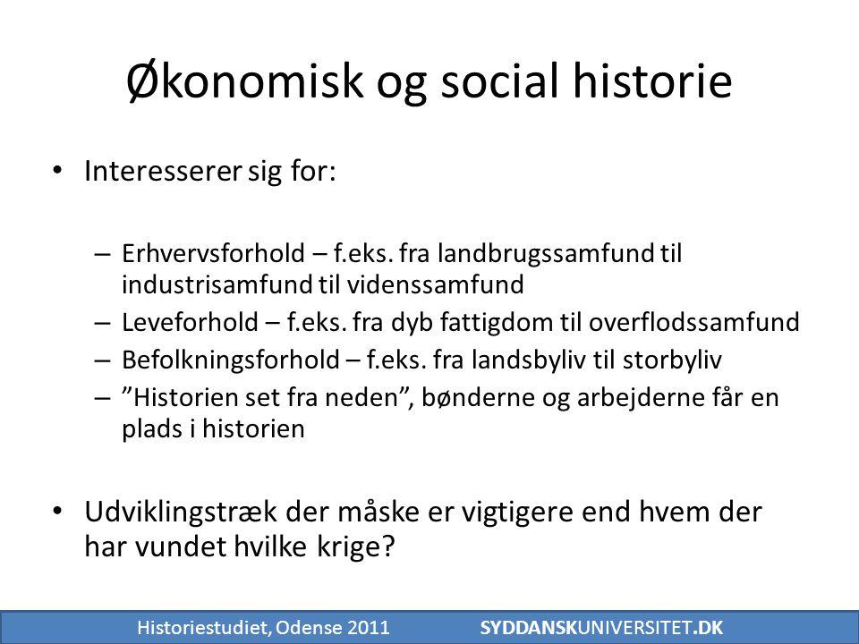 Økonomisk og social historie