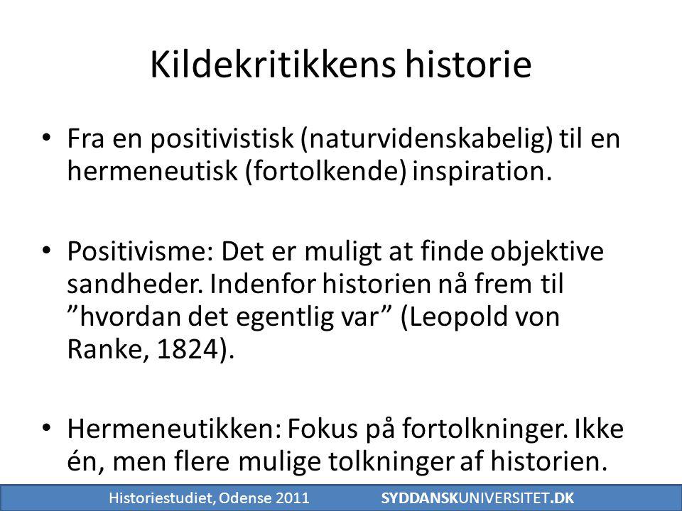 Kildekritikkens historie