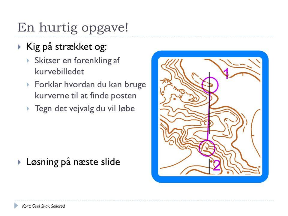 En hurtig opgave! Kig på strækket og: Løsning på næste slide