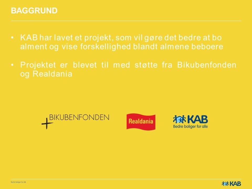 BAGGRUND KAB har lavet et projekt, som vil gøre det bedre at bo alment og vise forskellighed blandt almene beboere.