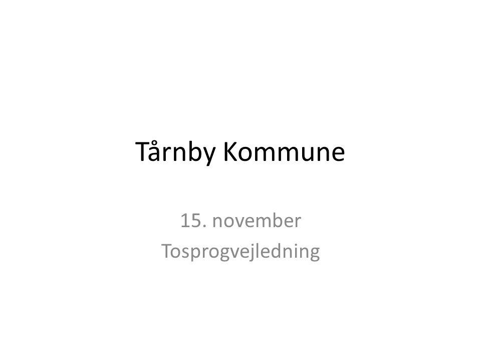 15. november Tosprogvejledning