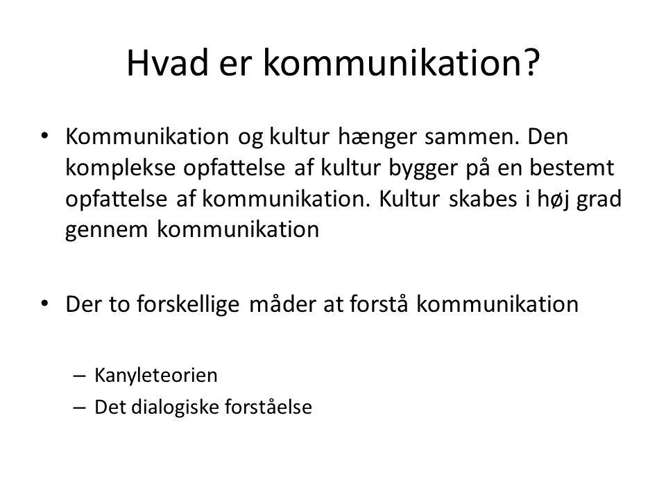 Hvad er kommunikation