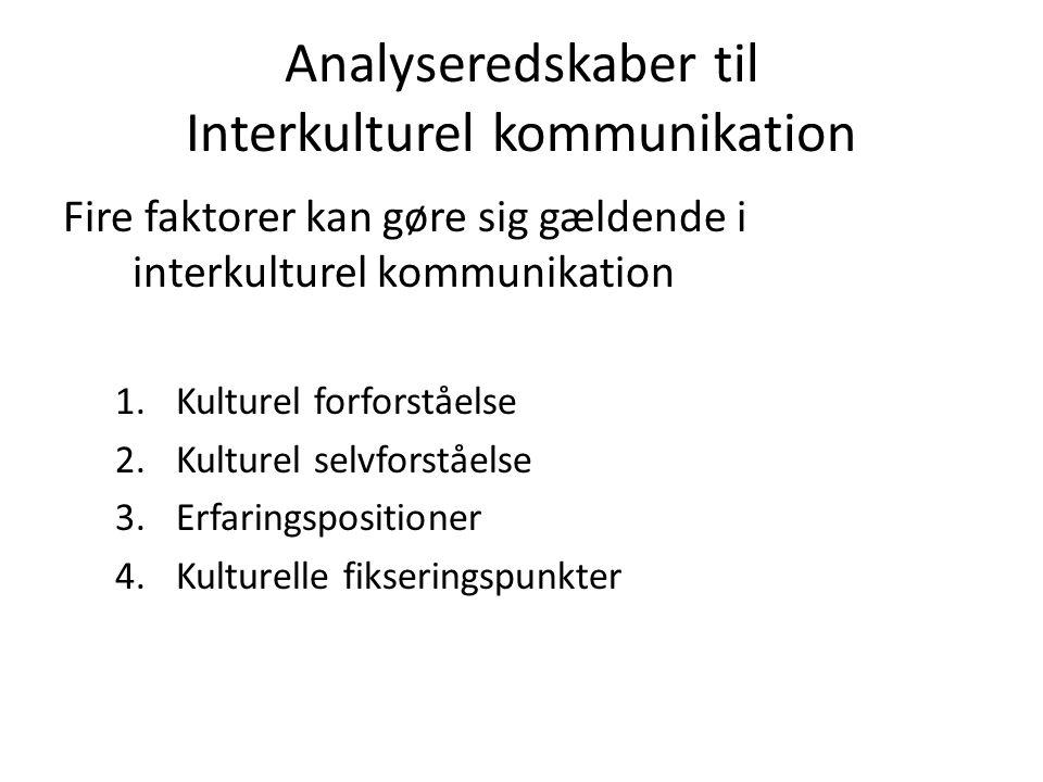 Analyseredskaber til Interkulturel kommunikation
