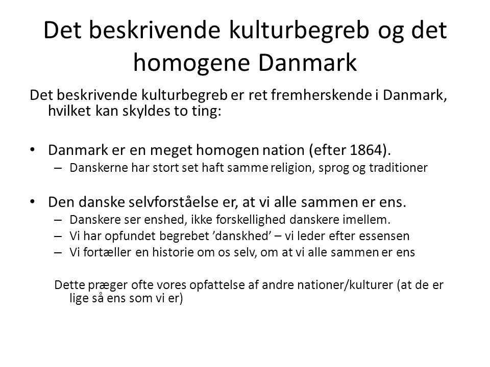 Det beskrivende kulturbegreb og det homogene Danmark