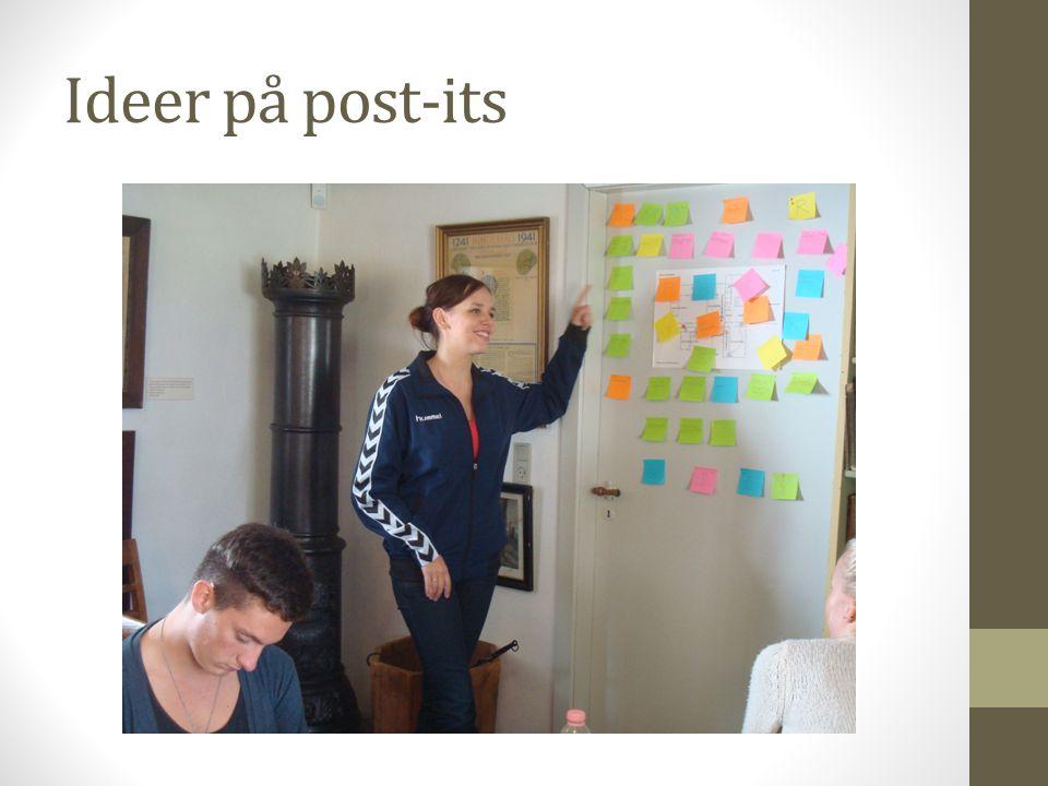 Ideer på post-its