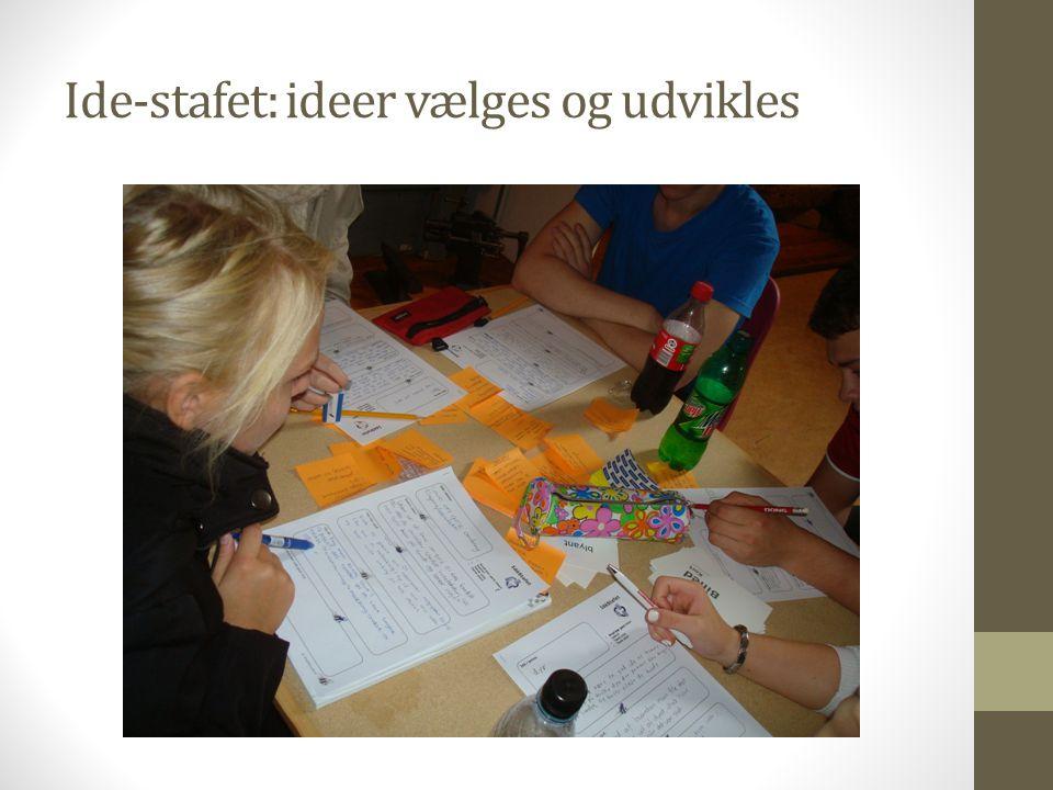 Ide-stafet: ideer vælges og udvikles
