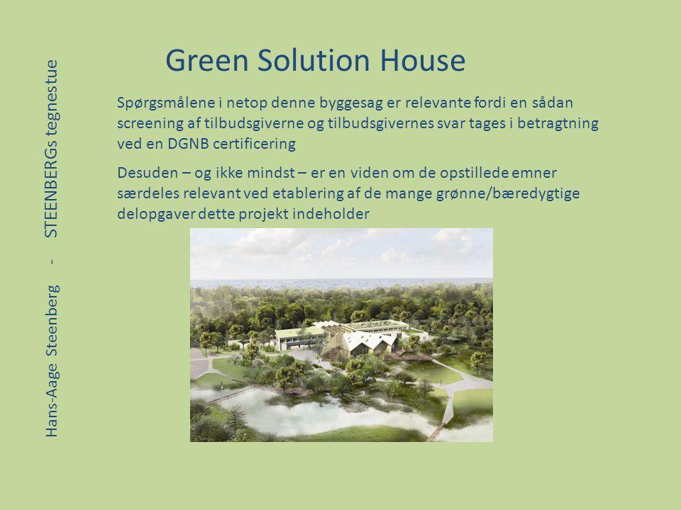 Green Solution House Spørgsmålene i netop denne byggesag er relevante fordi en sådan.