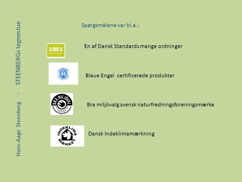 En af Dansk Standards mange ordninger