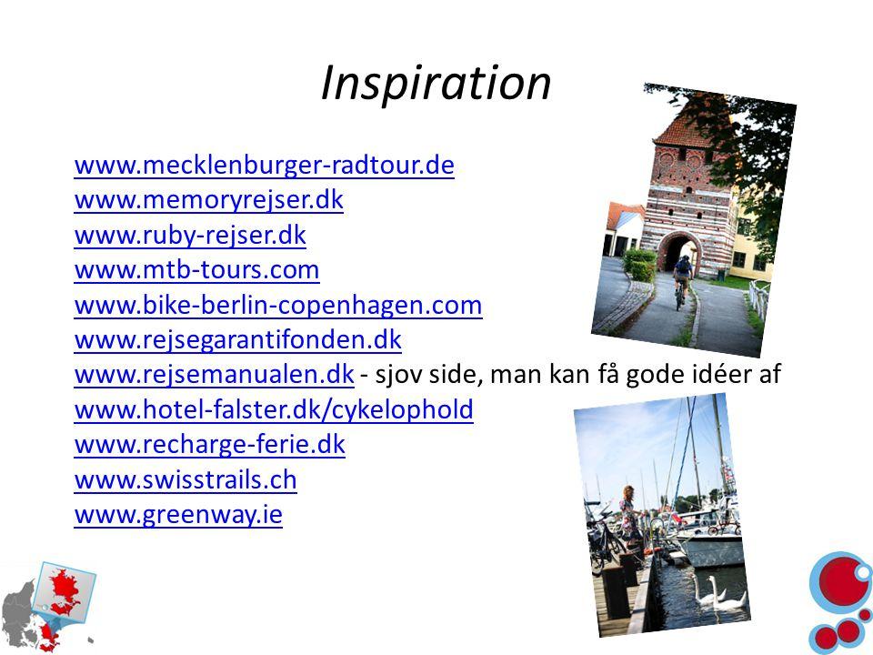 Inspiration www.mecklenburger-radtour.de www.memoryrejser.dk