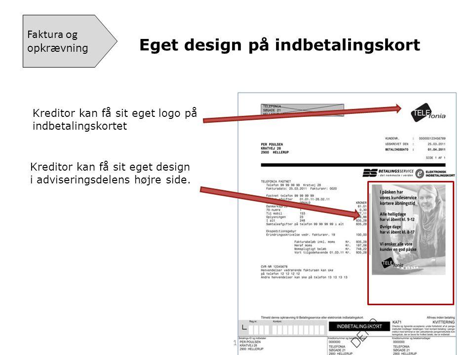 Kreditor kan få sit eget design i adviseringsdelens højre side.