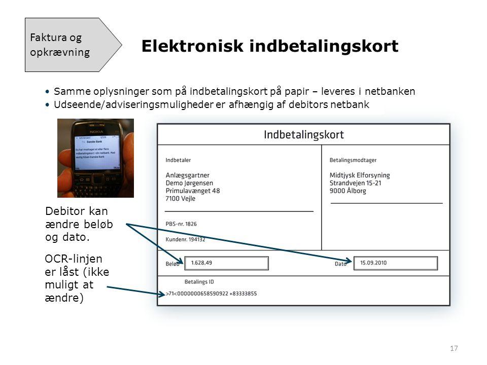 Elektronisk indbetalingskort