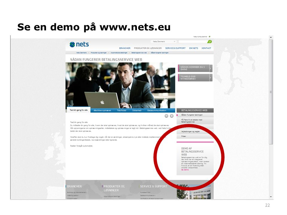 Se en demo på www.nets.eu