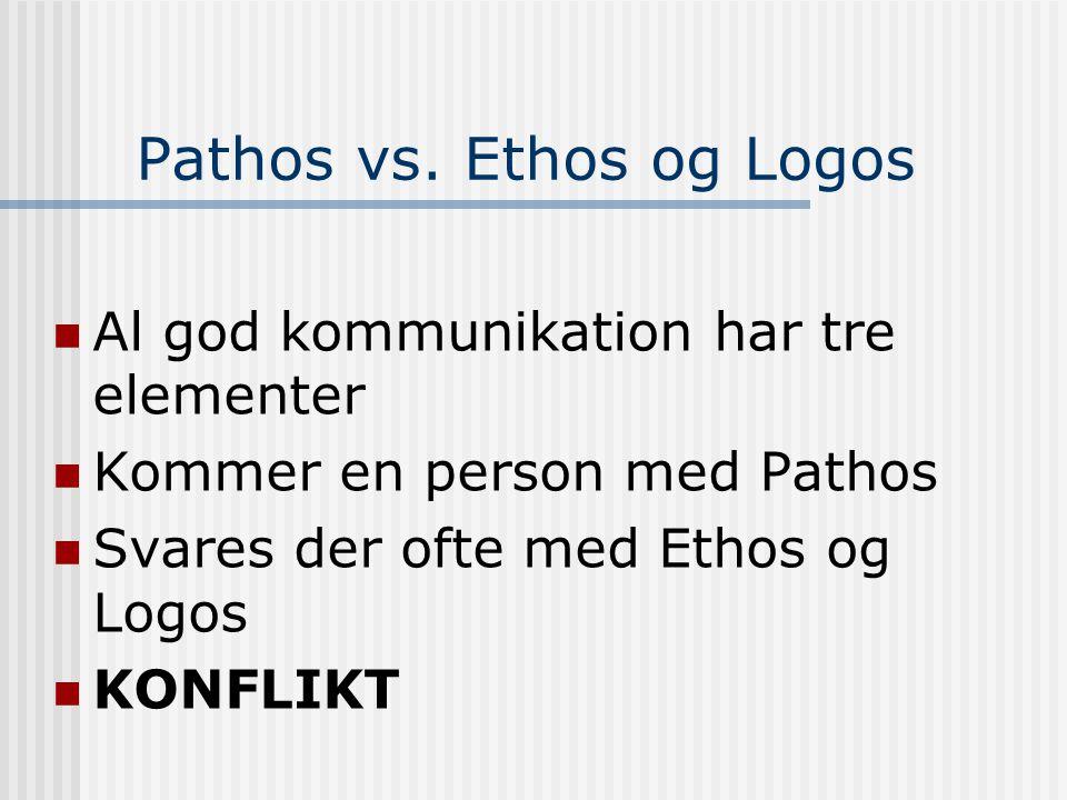 Pathos vs. Ethos og Logos