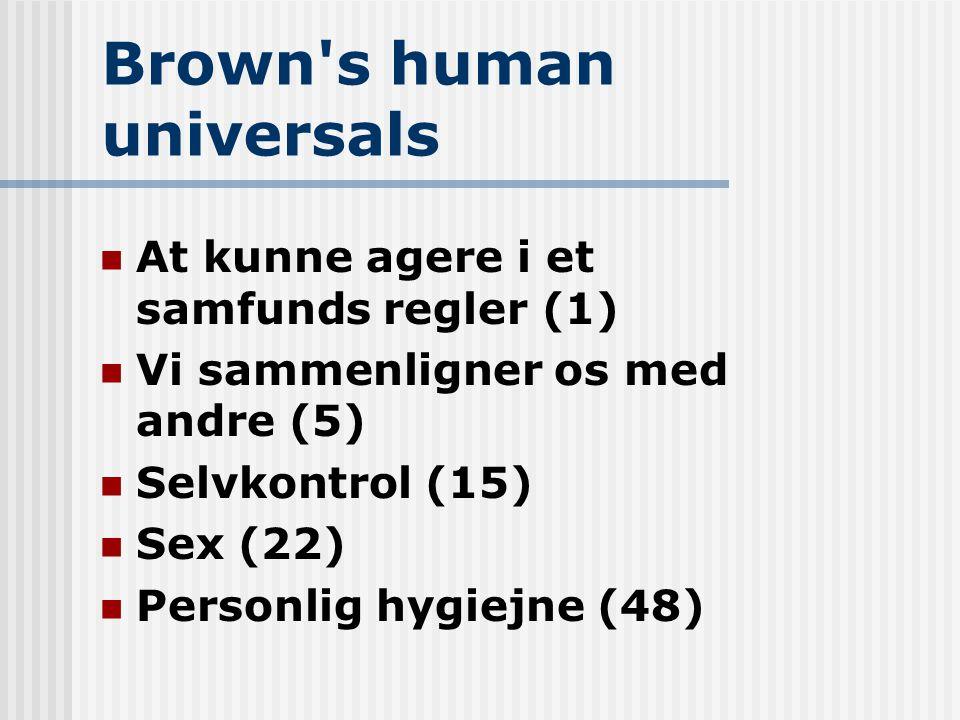 Brown s human universals